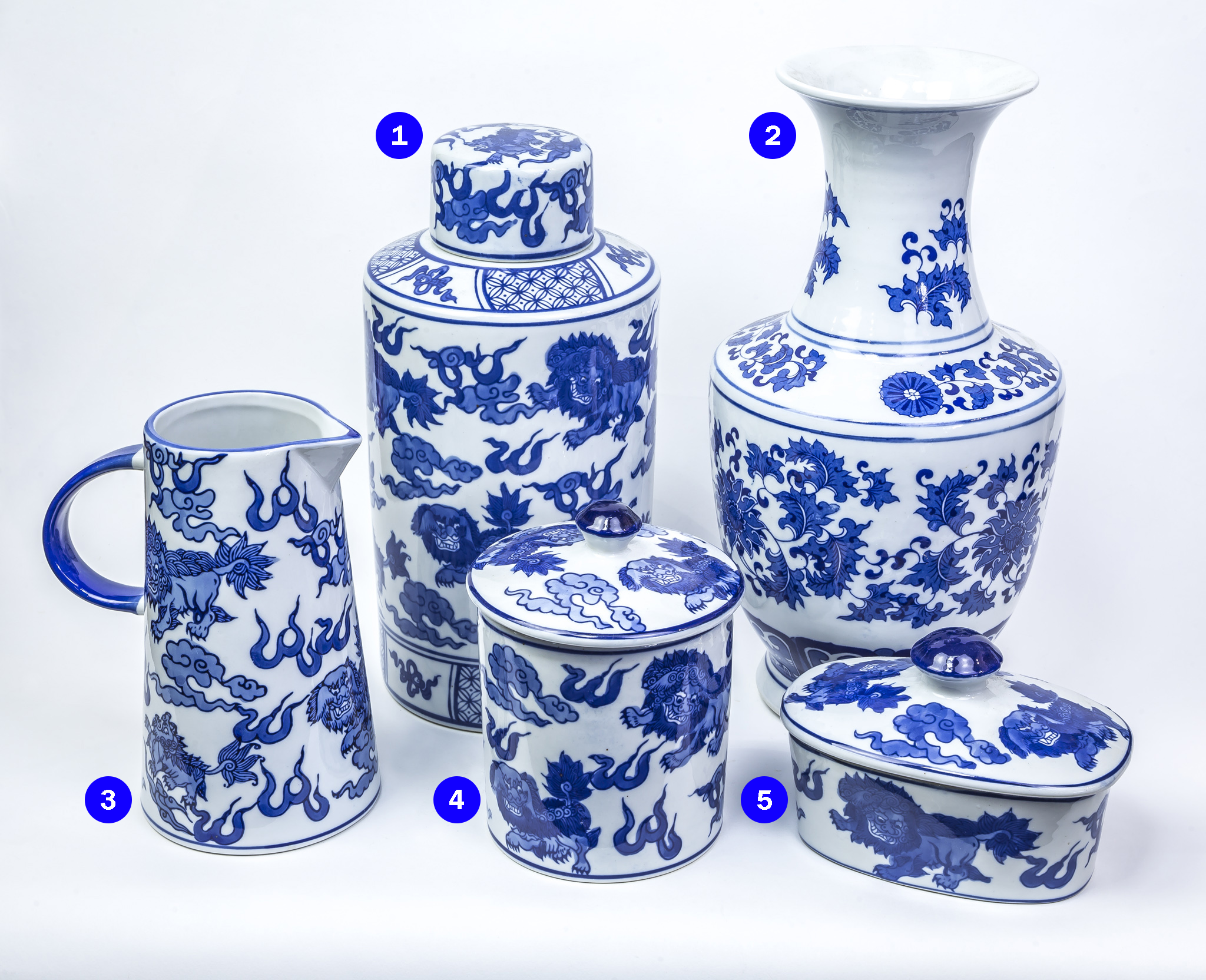 Blue and white China range